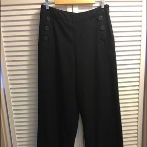 WhoWhatWear Black Sailor Pants Size 12